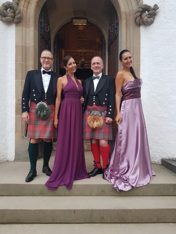 Peter, Daniela, Anthony & Anna at Blair Castle